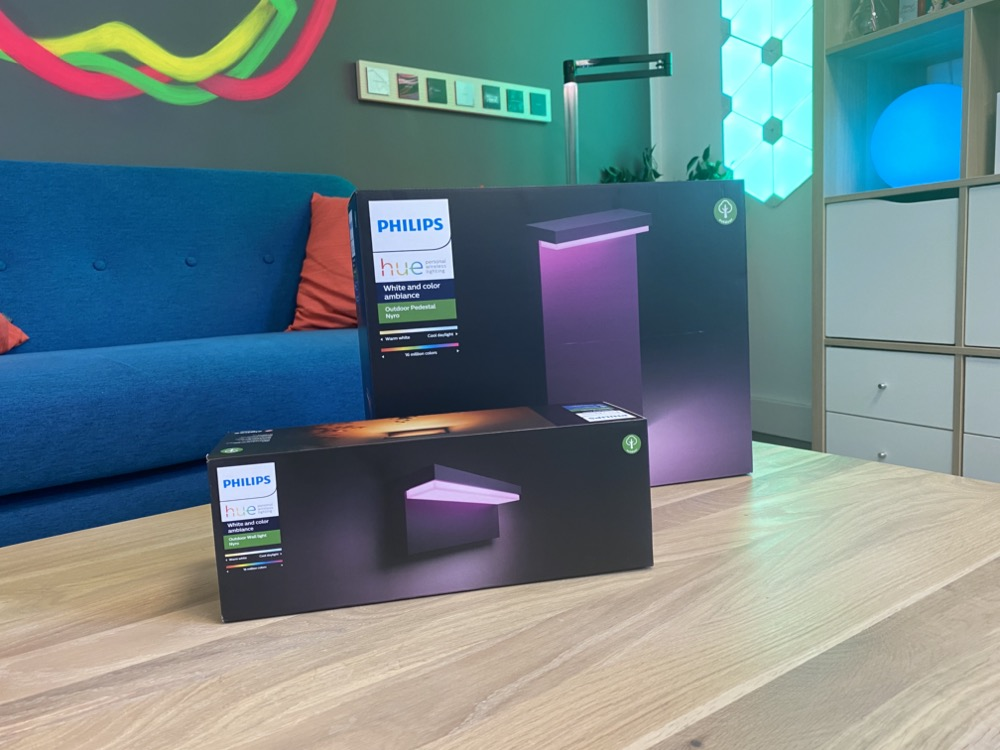 Hueblog: Philips Hue Nyro: Impressions of wall and pedestal luminaires for outdoor use