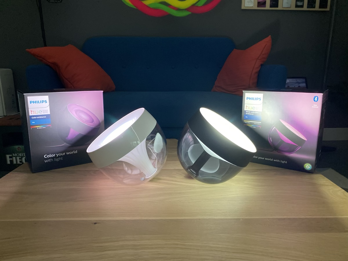 Hueblog: Philips Hue Iris: Old and new generation in face-to-face comparison