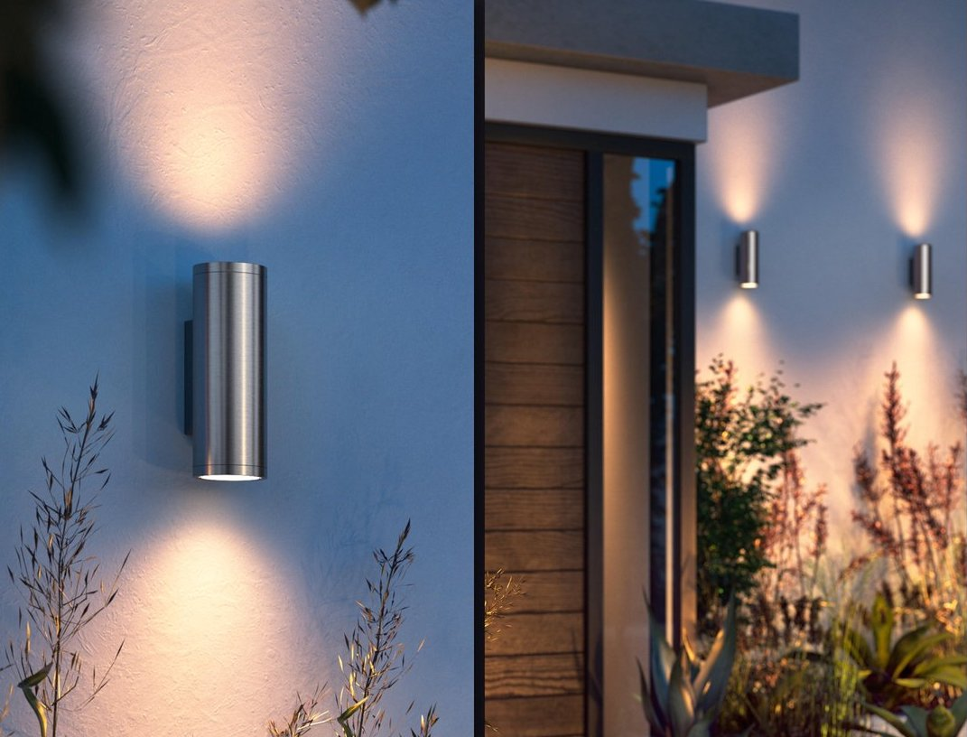 Hueblog: Hue Appear stainless steel wall light provides easy installation